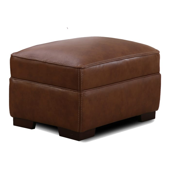 Simon Li Colin Top Grain Leather Ottoman Weekends Only Furniture