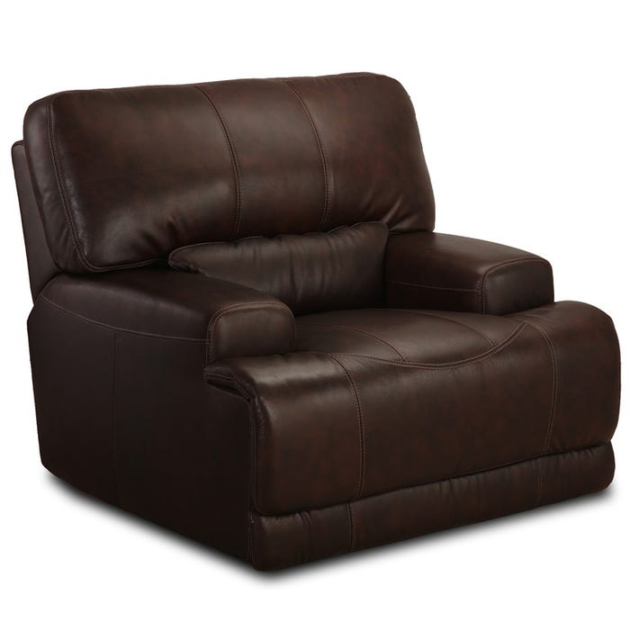 Incredible Quincy Brown Top Grain Leather Power Recliner Inzonedesignstudio Interior Chair Design Inzonedesignstudiocom