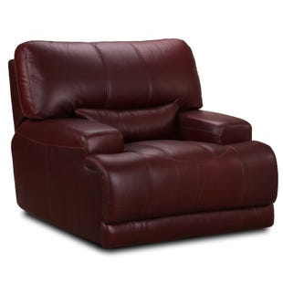 Simon Li Dayton Bordeaux Top Grain Leather Power Recliner