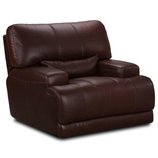 Simon Li Harlem Vintage Chocolate Power Recliner