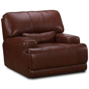Simon Li Jasper Bonanza Chestnut Leather Power Recliner