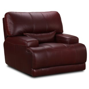 Simon Li Cornell Chocolate Top Grain Leather Power Recliner