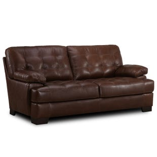 Simon Li Franklin Top Grain Leather Sofa