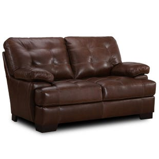 Simon Li Franklin Top Grain Leather Loveseat