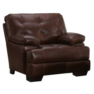 Simon Li Franklin Top Grain Leather Chair