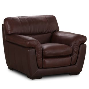 Simon Li Vintage Chocolate All Leather Chair