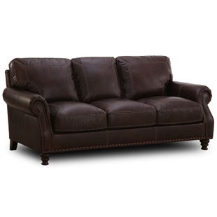Simon Li St. Charles Top Grain Leather Sofa