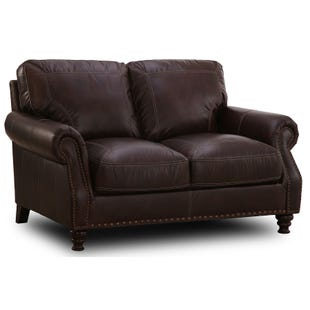 Simon Li St. Charles Top Grain Leather Loveseat
