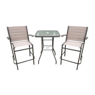 South Beach 3 Piece Set Balcony Height Patio Dining Set