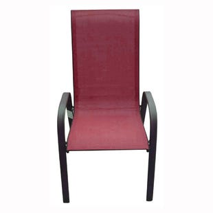 Hollywood II Red Patio Dining Chair