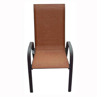 Hollywood II Orange Patio Dining Chair
