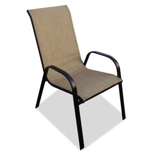 Hollywood II Tan Diamond Pattern Chair