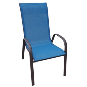 Hollywood II Peacock Blue Patio Dining Chair