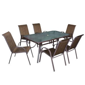 hollywood ii 7 piece orange patio dining set weekends only furniture. Black Bedroom Furniture Sets. Home Design Ideas