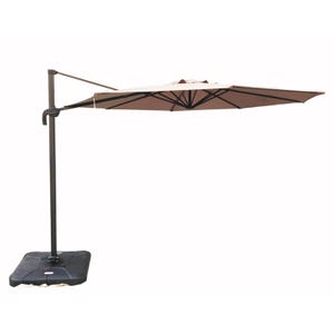 Hollywood Beige 10' Cantilever Umbrella with Base