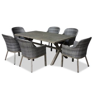 Crown Line 7 Piece All-Weather Wicker Patio Dining Set