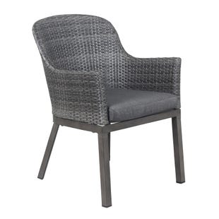 Crown Line Wicker and Metal Outdoor Dining Chair