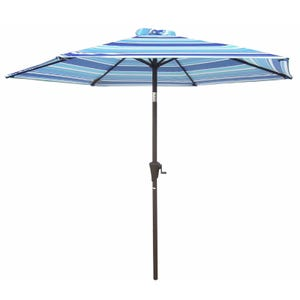 8' Blue Stripe Umbrella