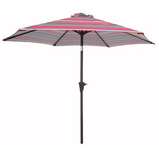 8' Red Stripe Umbrella