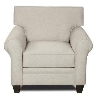 MyDesign Finley Roll Arm Linen Chair