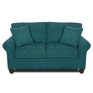 MyDesign Finley Roll Arm Teal Loveseat