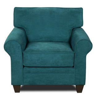 MyDesign Finley Roll Arm Teal Chair