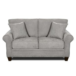 MyDesign Finley Roll Arm Light Gray Loveseat