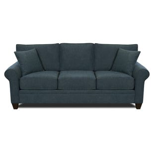 MyDesign Finley Roll Arm Cobalt Sofa