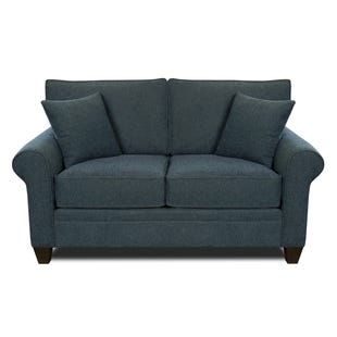MyDesign Finley Roll Arm Cobalt Loveseat