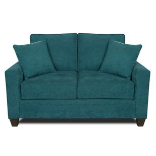 MyDesign Rory Track Arm Teal Loveseat