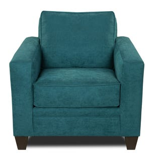 MyDesign Rory Track Arm Teal Chair