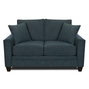 MyDesign Rory Track Arm Cobalt Loveseat