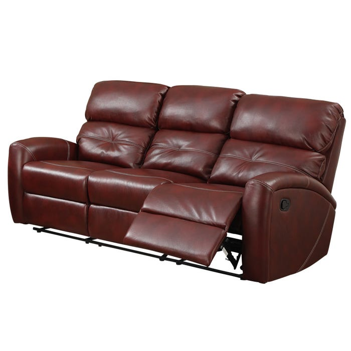 Pavo Bonded Reclining Sofa | Weekends Only Furniture