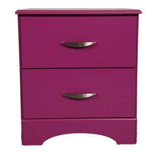 Kool Kids Raspberry 2 Drawer Nightstand