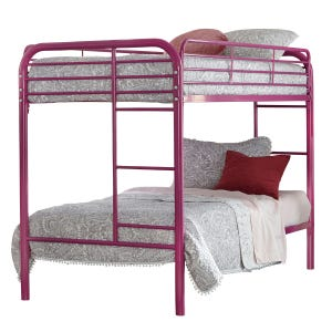 Kool Kids Raspberry Twin/Twin Bunk Bed