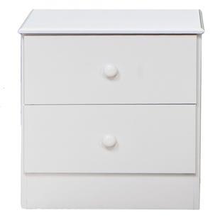 Basic Editions White 2 Drawer Nightstand