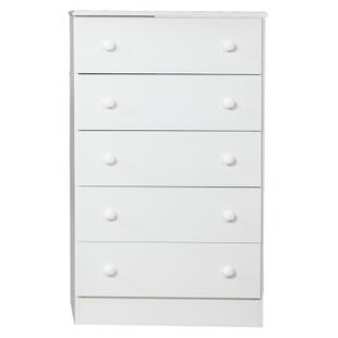 Basic Editions White 5 Drawer Chest