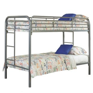 Kool Kids Silver Twin/Twin Bunk Bed