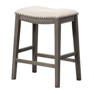 Saddle Counter Stool Gray