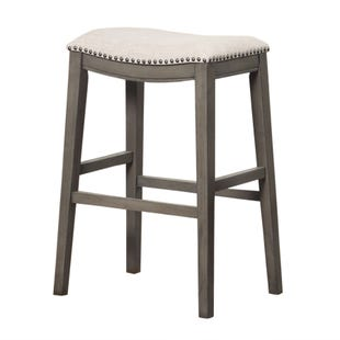 Saddle Bar Stool Gray