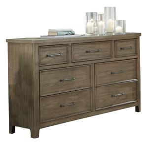 Harper Falls Lodge Gray 7 Drawer Dresser