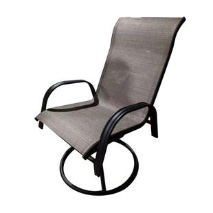 Mix and Match Patio Tan Swivel Sling Chair Outdoor
