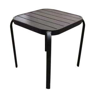 Mix and Match Patio Slat Top Side Table Black