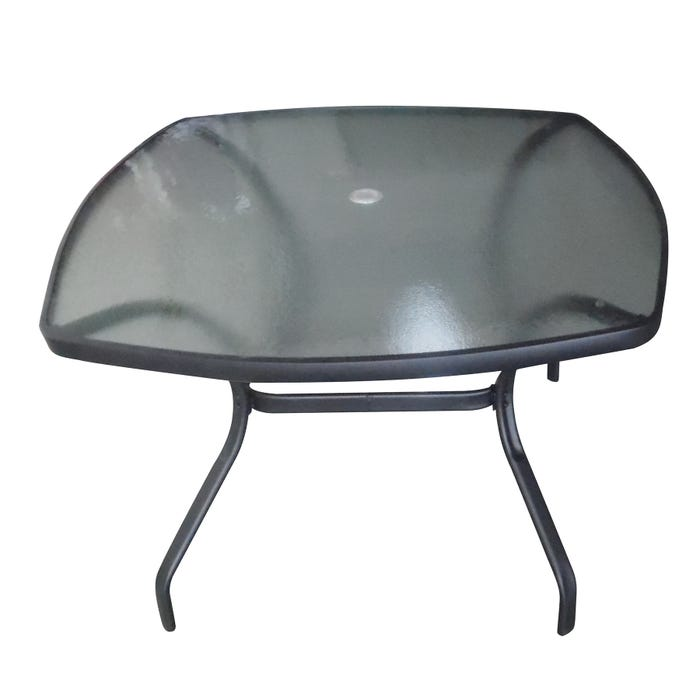 Mix And Match Patio Square Glass Top Dining Table Black Weekends Only Furniture