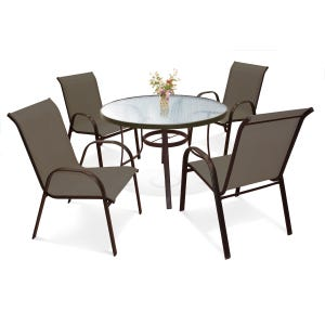 Laguna Brown 5 Piece Patio Dining Set