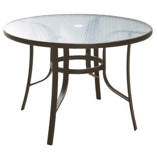 """Laguna 42"""" Round Glass Top Patio Dining Table"""