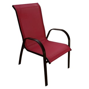 Mix and Match Patio Laguna Red Stackable Sling Chair