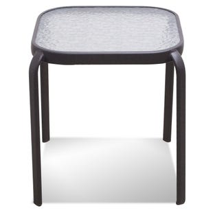 "Laguna 16"" Square Glass Top Patio End Table"