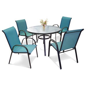 Laguna 5 Piece Blue Dining Set