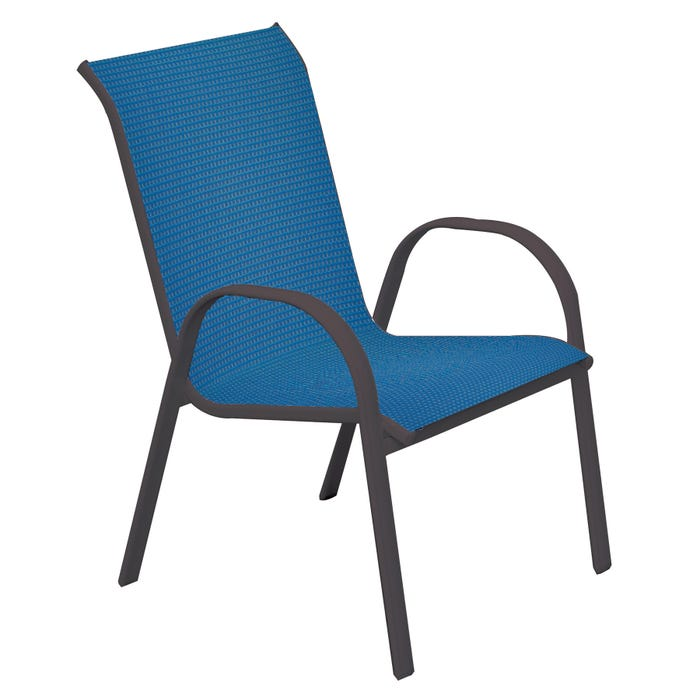 Laguna Blue Stackable Patio Sling Chair Weekends Only